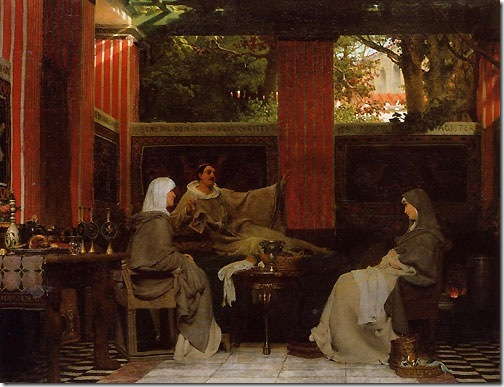 Venantius Fortunatus Reading His Poems to Radegonda VI, 1862, Sir Lawrence Alma-Tadema
