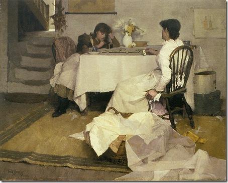 Domino!, 1886, Frank Bramley
