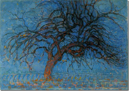 Avond (Evening); Red Tree, 1908, Piet Mondrian