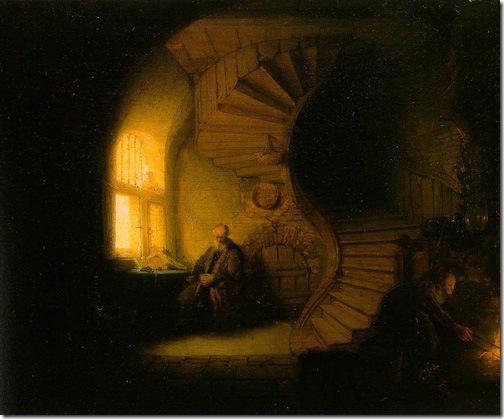 Philosopher in Meditation, 1632, Rembrandt van Rijn