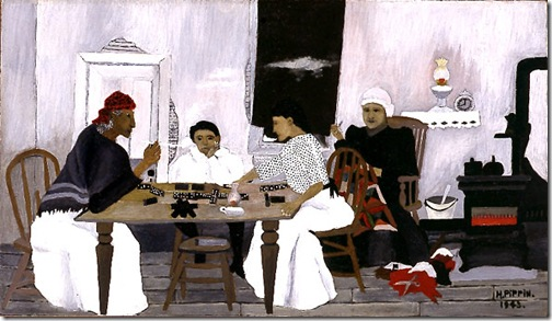 Domino Players, 1943, Horace Pippin