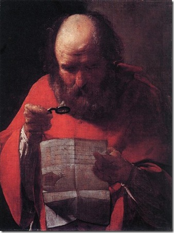St Jerome Reading, c. 1621-3, Georges de la Tour