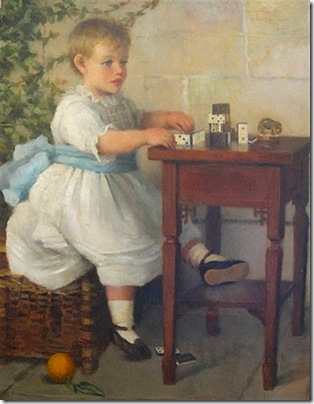 The Young Domino Player, 1892, Ellen M. Simpson