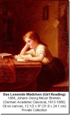 Girl Reading, 1884, Johann Georg Meyer Bremen