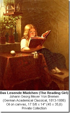 The Girl Reading,  Johann Georg Meyer Bremen