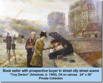 Denton Bookseller, oil on canvas