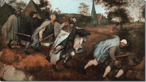 Parable of the Blind Leading the Blind, 1568, Pieter Bruegel the Elder