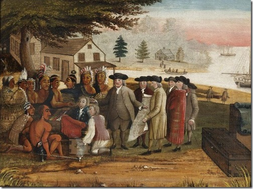 Penn's Treaty [with the Indians], 1830-35, Edward Hicks