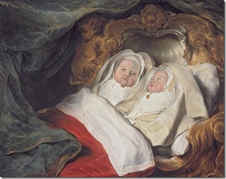 Double Portrait of the Twins Clara and Aelbert de Bray, c. 1646, Salomon de Bray
