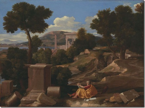 Landscape with Saint John on Patmos, 1640, Nicolas Poussin