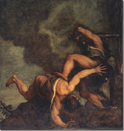 Cain taunting Abel, 1542-44, Titian