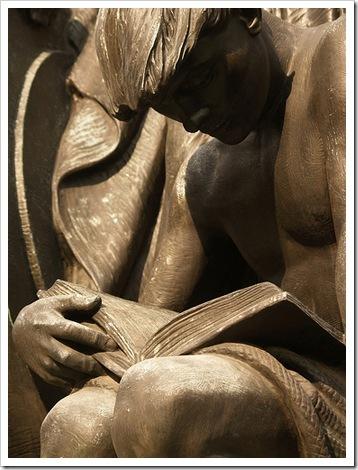 Young Man Reading, detail, 1933, Robert Ingersoll Aitken