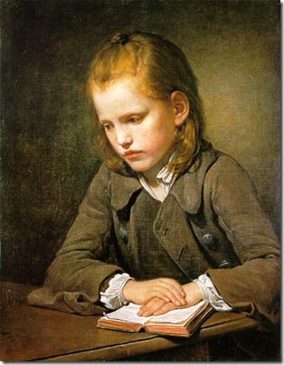 A Boy with a Lesson-book, 1757, Jean-Baptiste Greuze