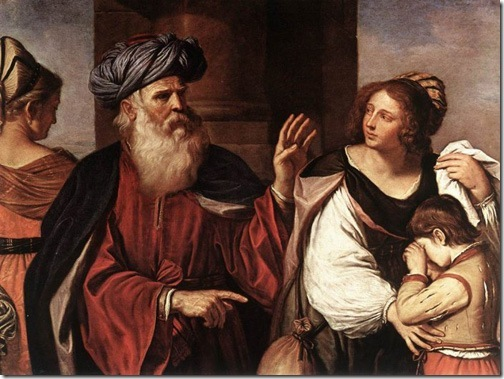 Abraham Casting Out Hagar and Ishmael, 1657, Il Guercino