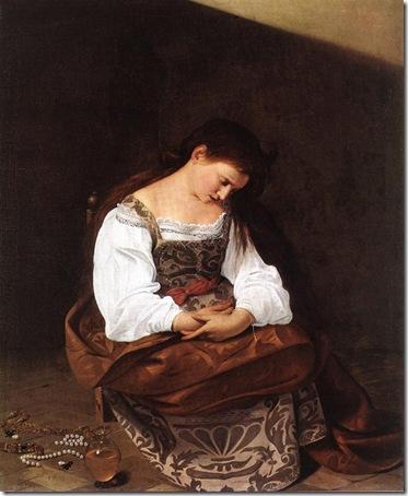 Penitent Magdalene (Mary Magdalene), c. 1594-1595, Caravaggio