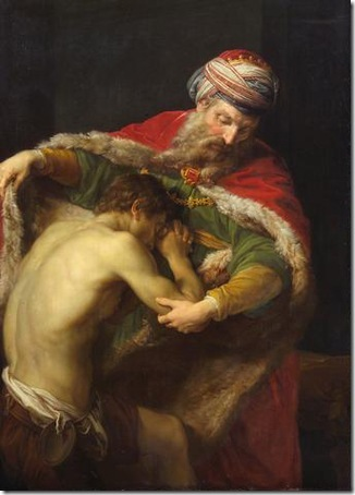 Return of the Prodigal Son, 1773, Pompeo Girolamo Batoni