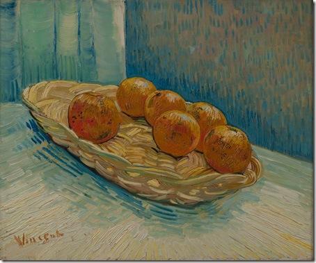 Basket with six oranges, 1888, Vincent van Gogh