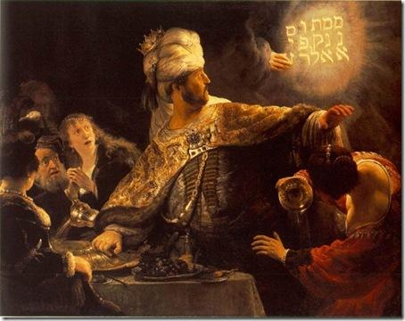 Belshazzar's Feast, c. 1635, Rembrandt Van Rijn