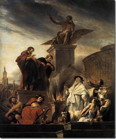 Paul and Barnabas at Lystra (Paulus en Barnabas te Lystra), 1650, Nicolaes Berchem