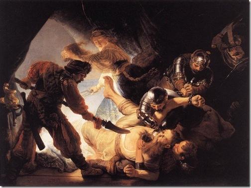 The Blinding of Samson, 1636, Rembrandt Van Rijn