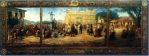 A Fundação da Villa de Santos - 1545, Benedito Calixto