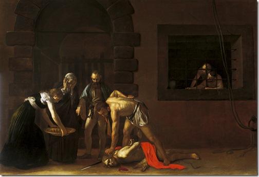 The Beheading of Saint John the Baptist, 1608, Caravaggio