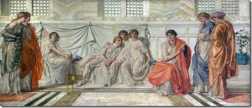 The Daughters of Zion receiving the teachings of the Shulamite, 1864-66, Albert Joseph Moore