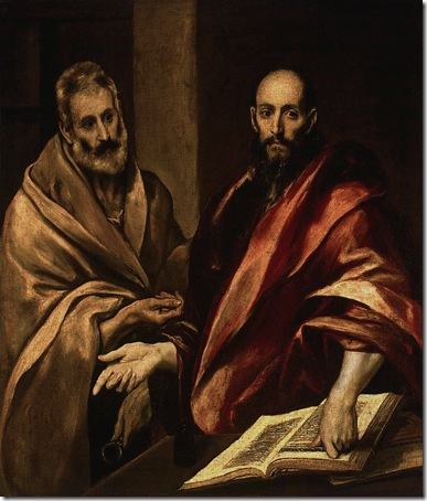 The Apostles Peter and Paul, 1587-92, El Greco