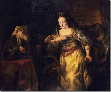 Esther and Mardochai, c. 1650, Ferdinand Bol