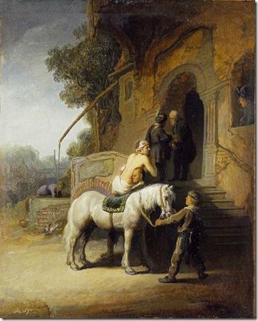 The Good Samaritan, 1630, Rembrandt van Rijn