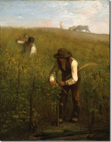 In the Vineyard, c. 1852-53, Jean-François Millet