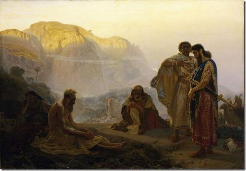 Job and His Friends, 1869, Ilya Repin