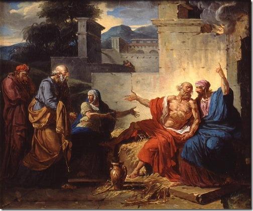 Job Being Scolded by his Wife (Job raillé par sa femme), c.1790, Francois-André Vincent