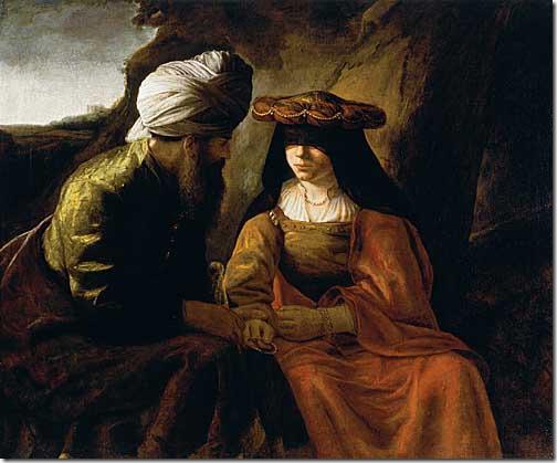 Judah and Tamar, c. 1650-1660, School of Rembrandt van Rijn