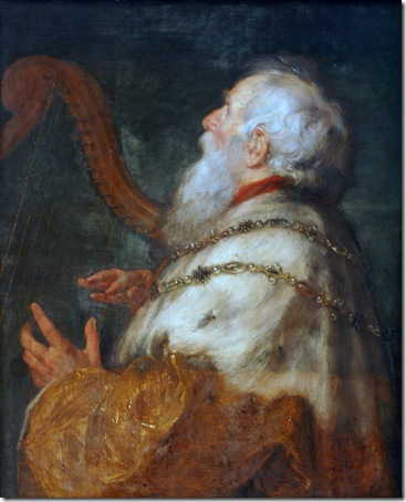 King David playing the Harp (König David spielt die Harfe), 1616-1617, Peter Paul Rubens & Jan Boeckhorst