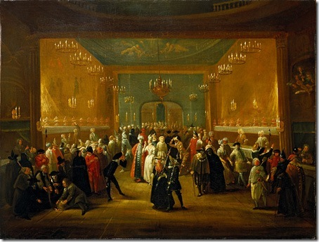 A Masquerade at the King's Theatre, Haymarket, ca. 1724, Giuseppe Grisoni