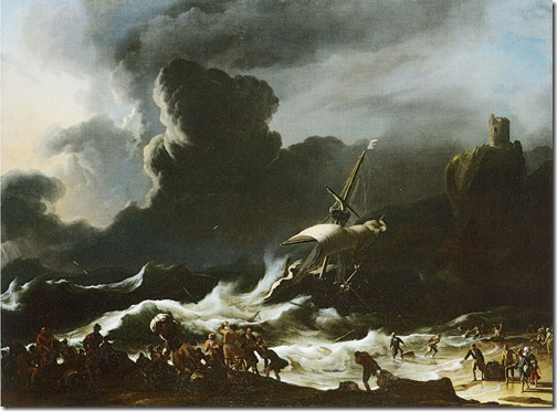 Paul's Shipwreck, ca. 1690, Ludolf Backhuysen