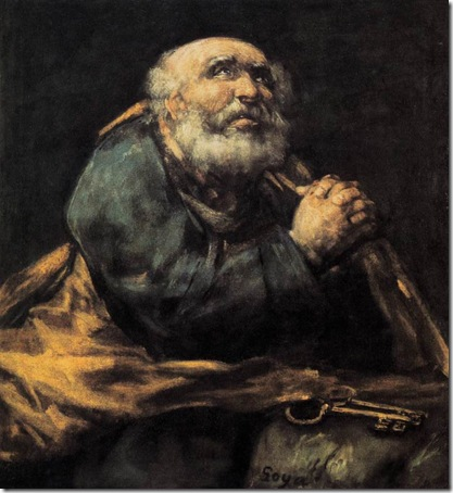 St. Peter Repentant, 1823-1825, Francisco de Goya