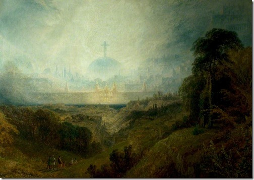 Pilgrims in Sight of the Celestial City, 1854, Henry Dawson