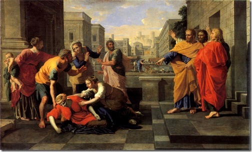 The Death of Sapphira, 1652, Nicolas Poussin
