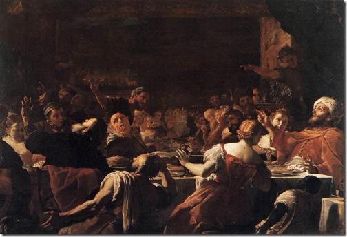 Absalom's Feast, 1653-59, Mattia Preti