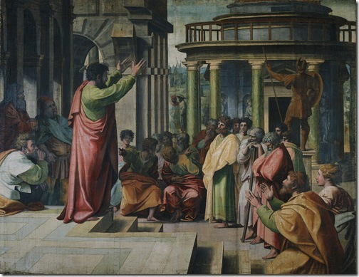 Paul Preaching at Athens, 1515-16, Raphael