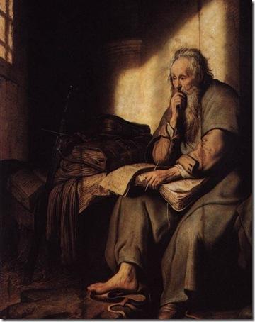 Apostle Paul in Prison, 1627, Rembrandt Van Rijn