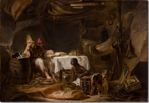 Robinson Crusoe Explaining the Scriptures to Friday, 1836, Alexander G. Fraser the Elder