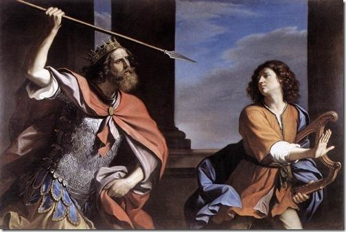 Saul Attacking David, 1646, Il Guercino
