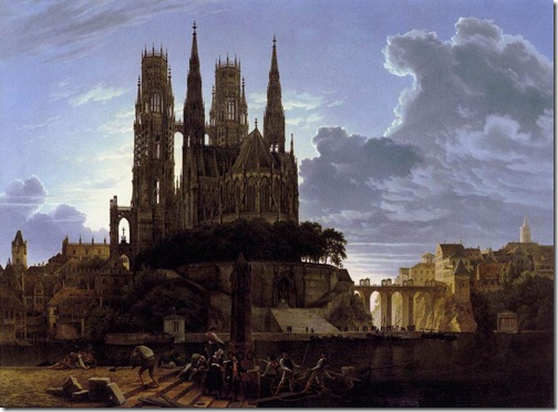 Medieval Town by Water, after 1813, Karl Friedrich Schinkel