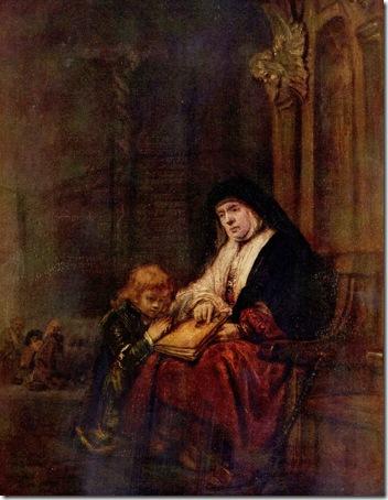Timothy with his Grandmother (Timotheus und seine Großmutter), 1648, Rembrandt van Rijn