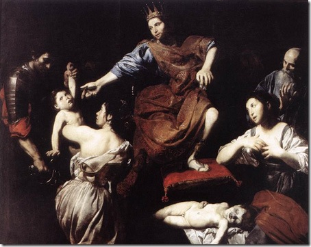 The Judgment of Solomon, Valentin de Boulogne