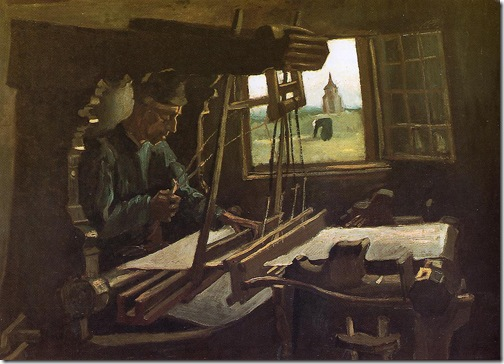 Weaver Near an Open Window, July 1884, Vincent van Gogh