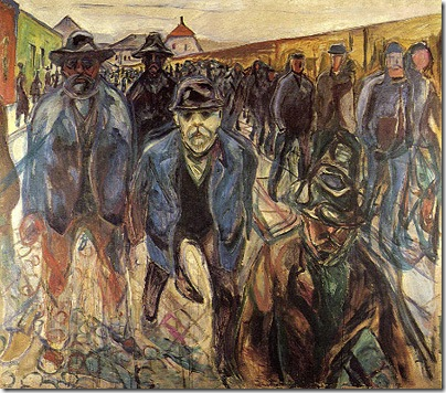 Workers Returning Home, 1913-1915, Edvard Munch